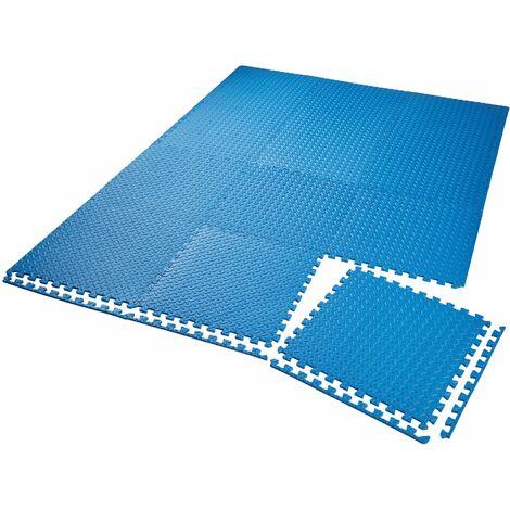 Gym mats - interlocking set of 12 - gym flooring, foam mats, workout mats