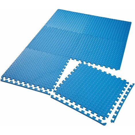 Gym mats - interlocking set of 6 - gym flooring, foam mats, workout mats