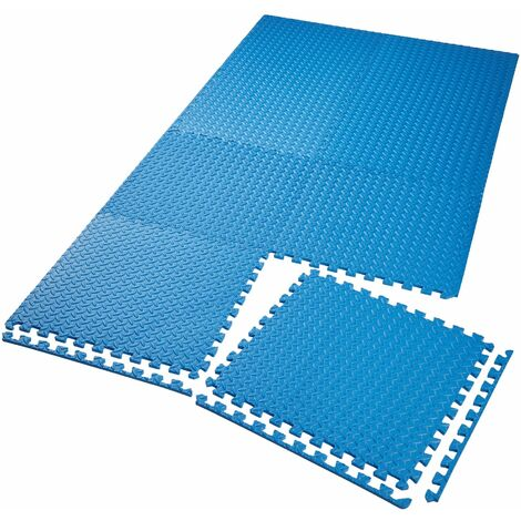 Gym mats - interlocking set of 8 - gym flooring, foam mats, workout mats