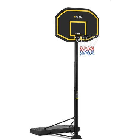 Gymrex Panier De Basketball Basket Sur Pied Panneau Hauteur 200 à 305 cm,