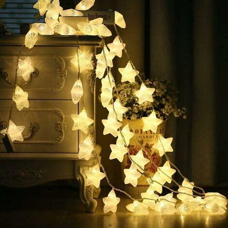 "main image of ""Gypsophila bulb string-night flashing colorful star lights-Christmas family garden wedding birthday party-40 lights 6 meters-warm white-battery-USB SOEKAVIA"""