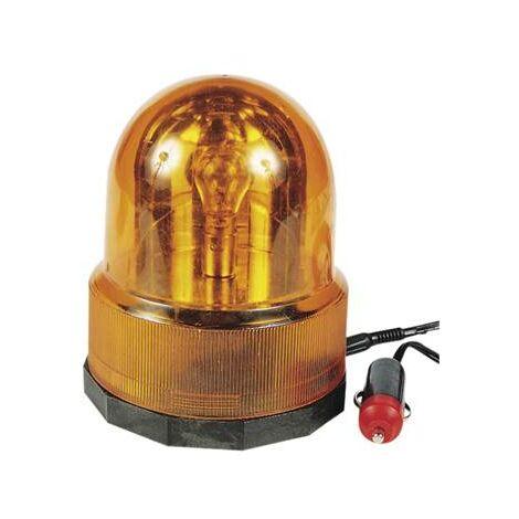 Gyrophare aimantée 12V orange sur prise allume cigare