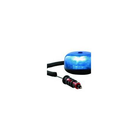 Gyrophare CRYSTAL magnétique bleu - H. 74 mm