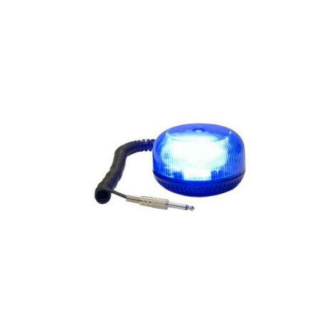 Gyrophare CRYSTAL magnétique tournant bleu prise jack - H. 74 mm