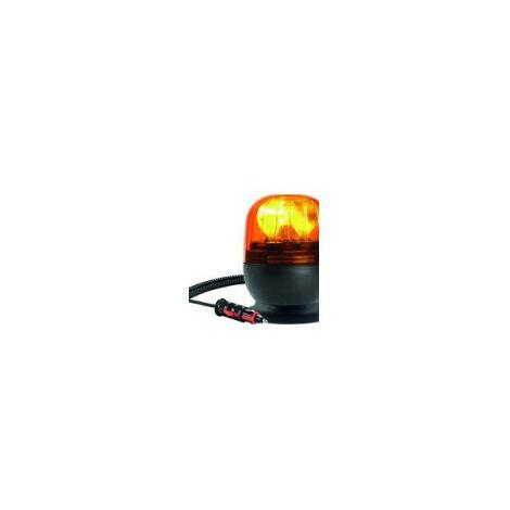Gyrophare EUROROT magnétique sans vantouse 12 V 21 W - IP55 - H. 120 mm - Ø 148 mm