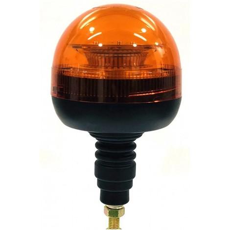 Gyrophare Flash rotatif ZBOX 39 Led 12-24v avec fixation à boulonner sur tige flexible
