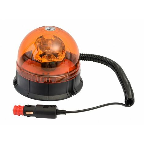 Gyrophare Homologue 12/24V ventouse Magnetique 30 led + Prise Allume Cigare