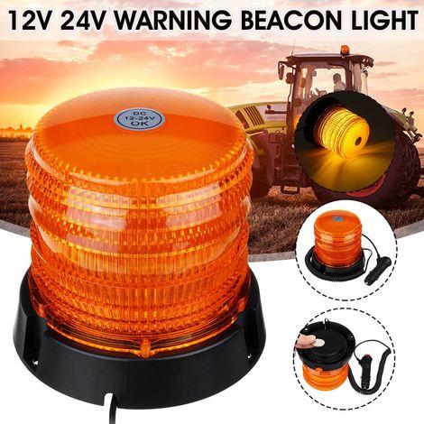 Gyrophare LED Magnetique 30-LED Balise de Signalisation Stroboscopique Lampe d'Avertissement 12v 24v