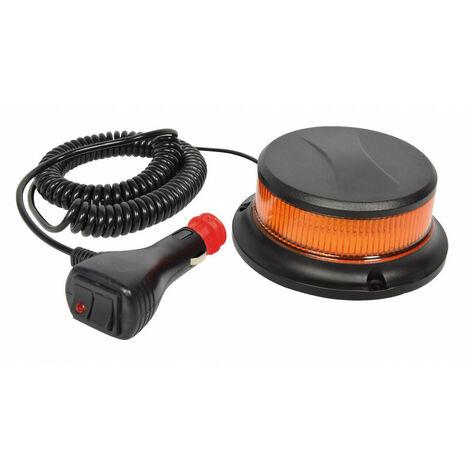 Gyrophare LED magnétique extra plat Homologué 12V - 24V allume cigare