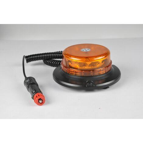 GYROPHARE MAGNETIQUE EXTRA PLAT LED LEDWORK - LWK0375 - -