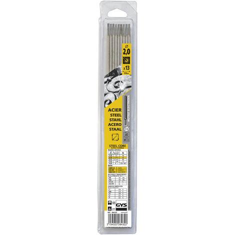 GYS - 13 électrodes soudage acier - Diamètre 2 - Blister - 084322