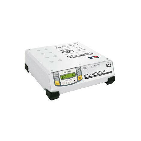 Gys - Chargeur de batterie 6/12/24 V 50 A 1500 W 230 V (50/60 Hz) avec câble 5 m - GYSFLASH 50.24 HF