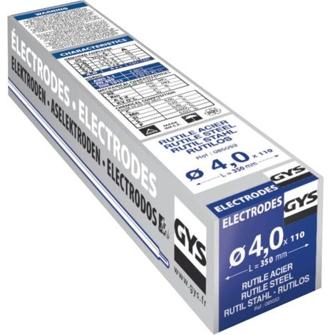 GYS Électrodes rutiles aciers non alliés - 0850
