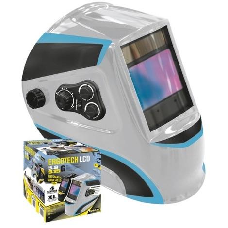 Gys - Masque de soudge écran XL teintes 5-9 / 9-13 - Ergotech 5-9 / 9-13 Silver - TNT