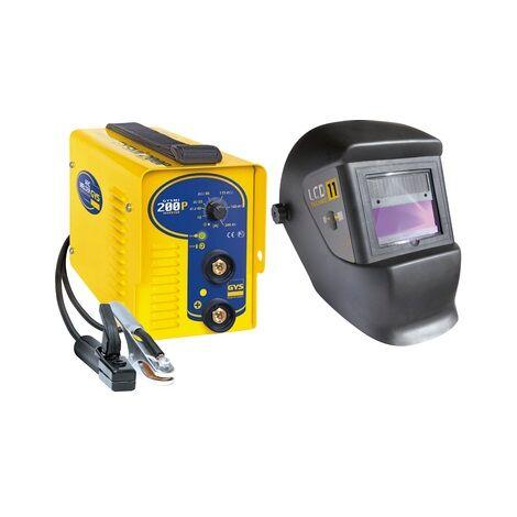 Gys - Pack poste de soudure inverter MMA 230 V 200 A et masque LCD teinte 11 - Gysmi 200P + LCD TECHNO 11 - TNT