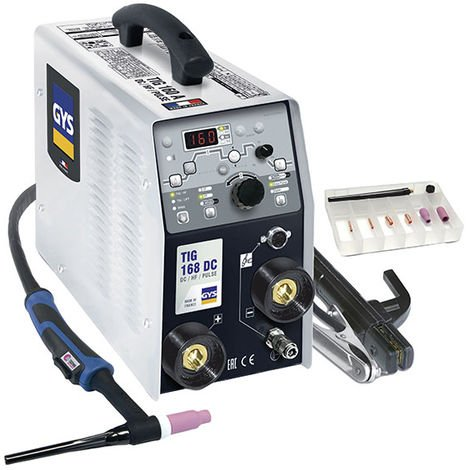 GYS Poste de soudure TIG 168 DC HF avec accessoires - 011410