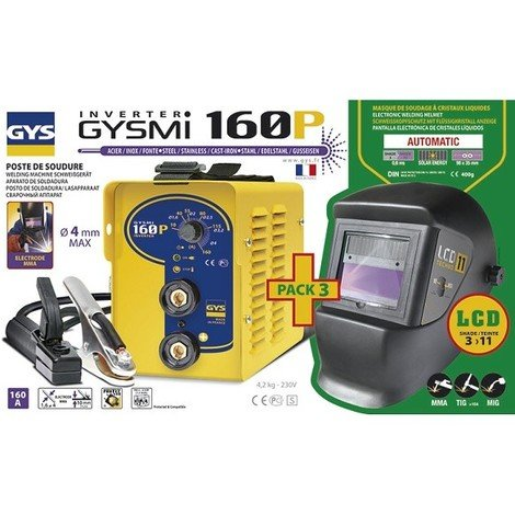 GYS Poste MMA Inverter GYSMI 160P + Masque LCD TECHNO 11 - 030435