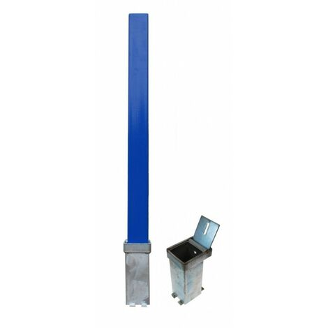 H/D Blue Removable Security Post & 2 x Ground Bases (001-3810 K/D, 001-3800 K/A).