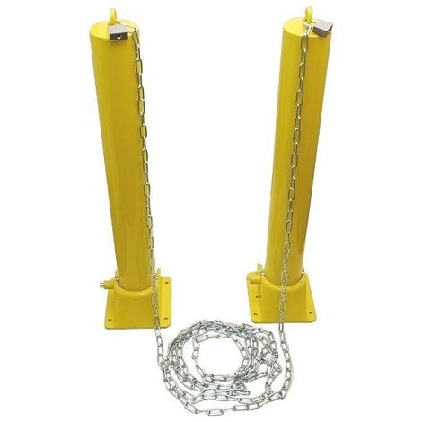 H/D Fold Down Security Post & Chain Kit (001-1650)