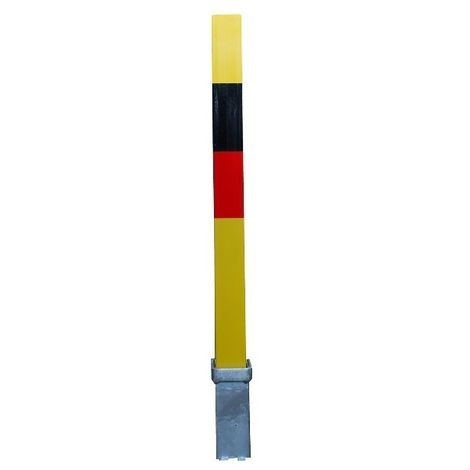 H/D Removable Locking Security Parking Post with Black & Red Bands (001-0284 K/D, 001-0274 K/A)