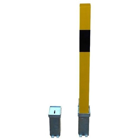 H/D Removable Security Bollard with 2 x Ground Bases (001-1970 K/D. 001-1960 K/A)