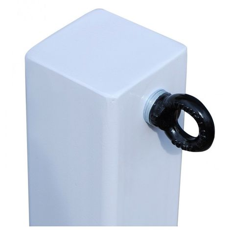 H/D White 100P Removable Security Post with 1 x R/H Black Chain Eyelet (001-4050 K/D & 001-4040 K/A)
