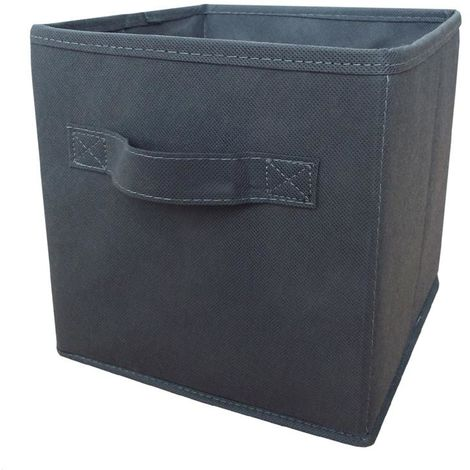 H & L Russel Foldable Storage Box With Lid (Small) (Grey)