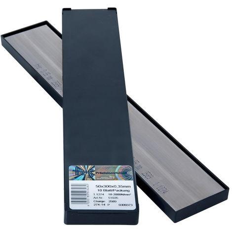 H+S Metallfolien Plattenware rostfrei50x300x0,25mm 10Bl/P