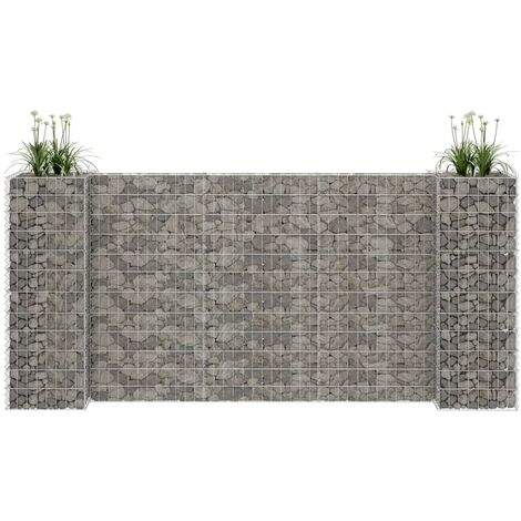 H-Shaped Gabion Planter Steel Wire 260x40x120 cm