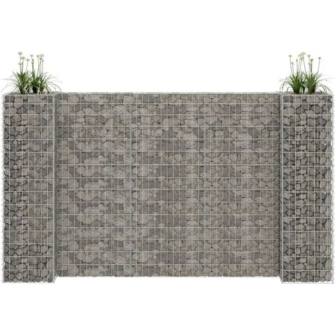 H-Shaped Gabion Planter Steel Wire 260x40x150 cm