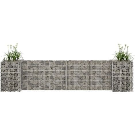 H-Shaped Gabion Planter Steel Wire 260x40x60 cm