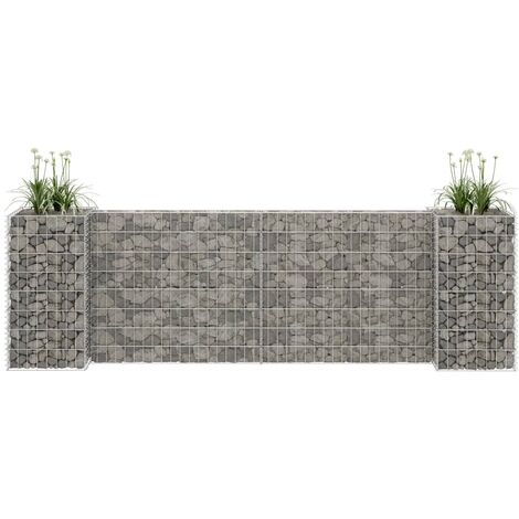 H-Shaped Gabion Planter Steel Wire 260x40x80 cm