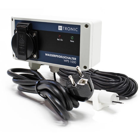 H-Tronic WPS 1000 Wasserpegelschalter V2 mit Wassersensor und 10m Sensorkabel 3000W Wassermelder