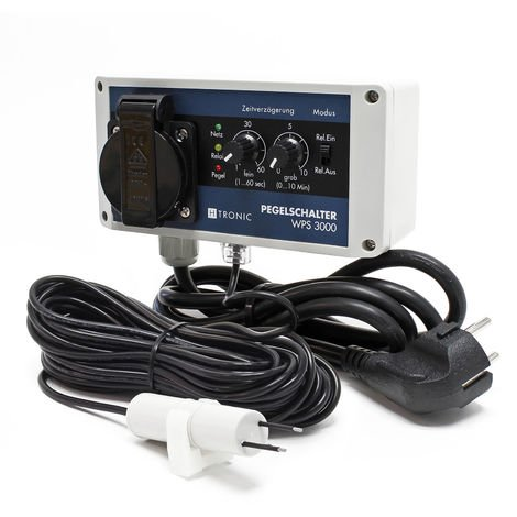 H-Tronic WPS 3000 Interruptor nivel agua con sensor 10m 3000W