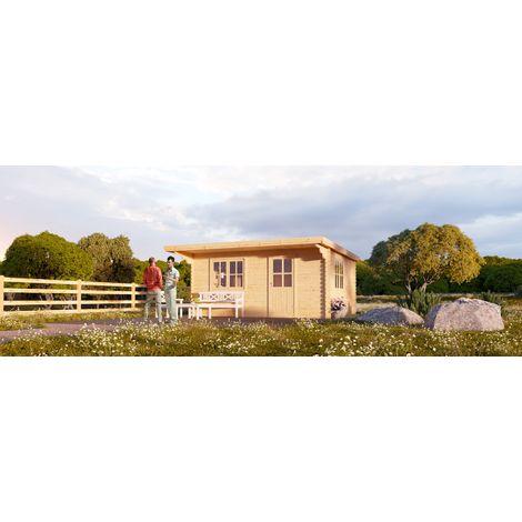 <h1> L'abri de jardin DREUX &agrave; toit plat 12m&sup2;(4x3) 44mm</h1>
