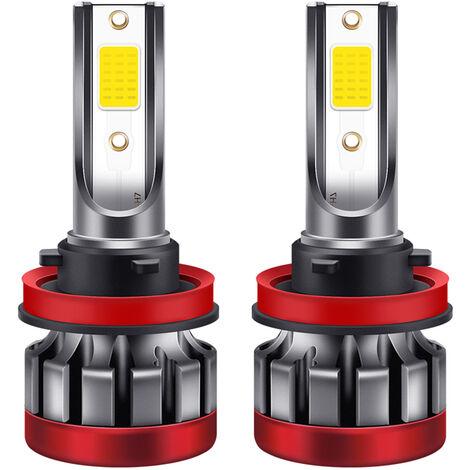 H11 LED 2PCS H8 / Niebla bombillas 3000K amarillo Bombillas LED DRL luz antiniebla 3000 lumenes 30W de alta potencia para Autos Camiones