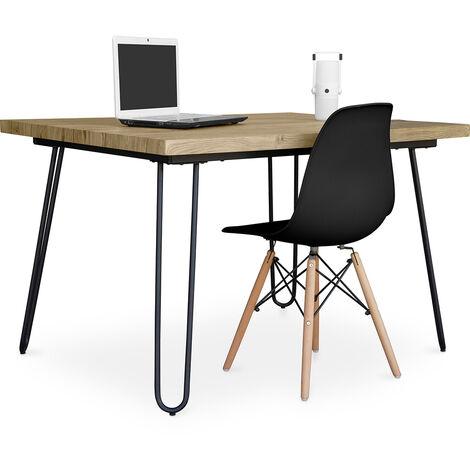 Haarnadel 120x90 Schreibtisch Tisch + Deswick Stuhlpaket