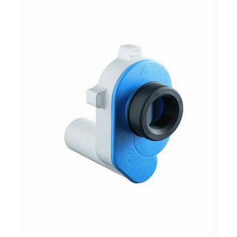 Haas Urinal Pissoir Ablaufgarnitur DN50 Kunststoff Absauge Siphon waagerecht