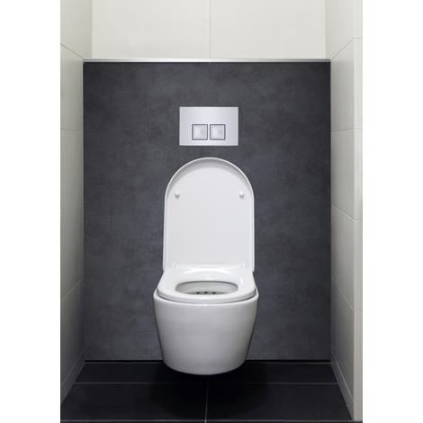 Habillage bâti-support Décofast - Lazer - Béton brut - 1500x1200mm