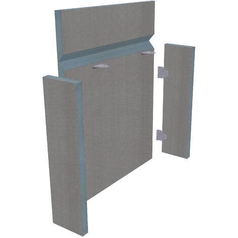 Habillage de bati support à carreler universel en kit de 4 panneaux (125 x 60 cm + retour) - épaisseur 3 cm