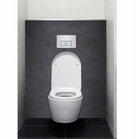 Habillage décoratif Bâti WC DECOFAST Cosy Béton Ciré