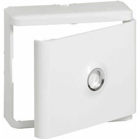 Habillage +porte blanche pour platine de branchement - 401185 - Legrand
