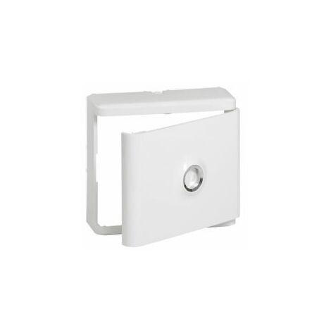Habillage + porte blanche pour platine de branchement DRIVIA - Legrand