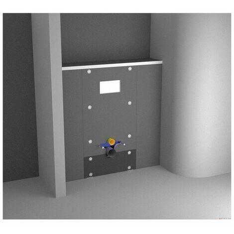 Habillage universel pour WC bâti support Panodur 1300 x 600 mm