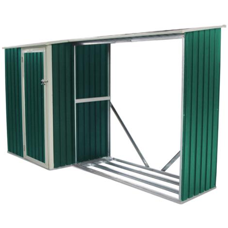 Habit Abri à bûches avec abri de jardin en aluminium Wood-Plus B