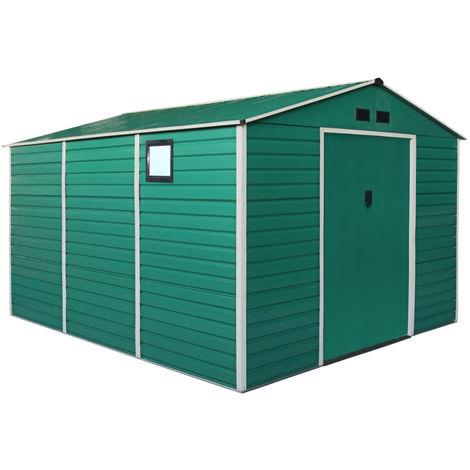 Box Casetta Da Giardino Verde Attrezzi da giardino in metallo XXL