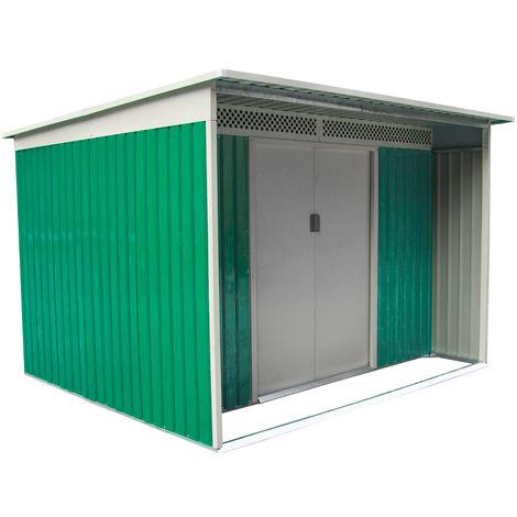 Habit box casetta giardino esterno in lamiera zincata 277x334xh191cm DARREN D