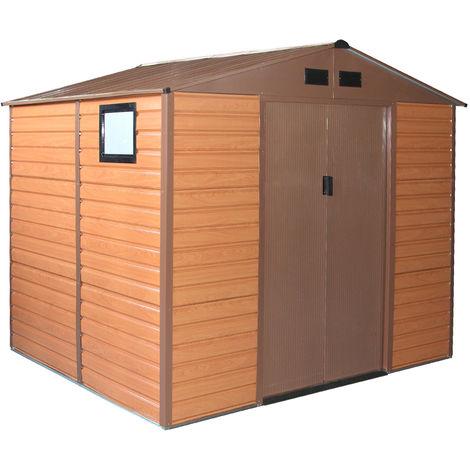 Habit Box casetta in lamiera da giardino doppio spessore 277x191xh218cm Forest L-Plus