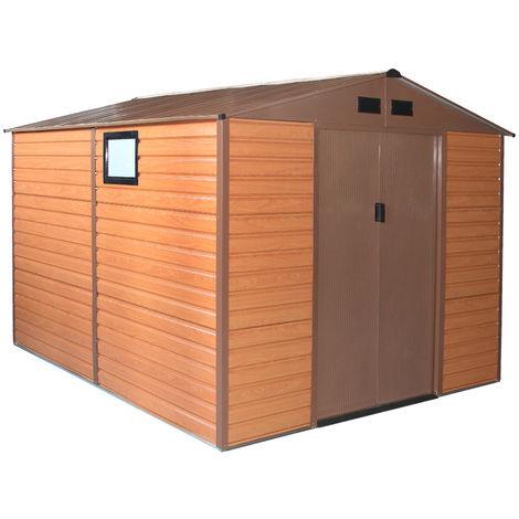 Habit Box Casetta in lamiera da giardino doppio spessore 277x309x218cm FOREST XL-PLUS