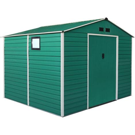 Habit Box Casetta in lamiera da giardino doppio spessore 277x319xh218cm GREEN XL-PLUS